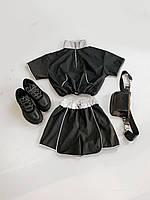 Женский летний костюм с шортами и топом со светоотражением 66KO599E, фото 1