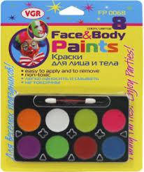 Краски для лица и тела 8 цв., FP 0068 VGR