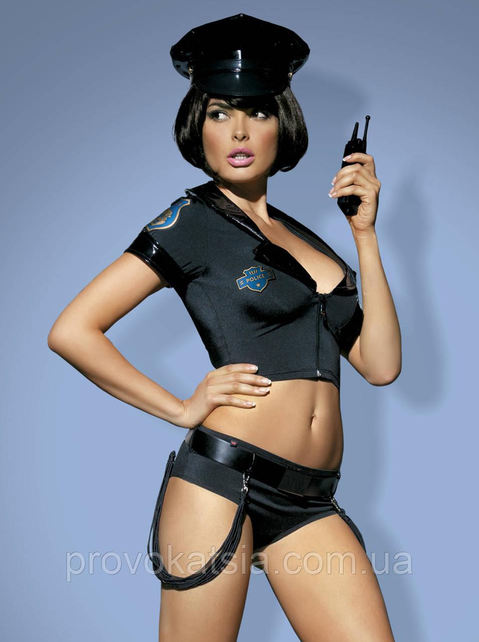 Police set костюм поліцейської чорний Obsessive