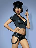 Police set костюм поліцейської чорний Obsessive, фото 1