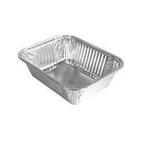 SP15L контейнер пищевая алюминиевая ЭКО емкость из фольги 225 мл хранение доставка еды 100 шт/уп, фото 1