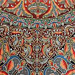 Пасьянс 796-6, павлопосадский платок из вискозы с подрубкой 80х80, фото 4