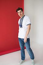 Мужские сорочки с вышивкой короткий рукав Всеволод, фото 3