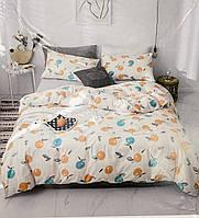 Сатиновый двухспальный комплект постельного белья. 180*220