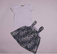 Детский сарафан, белая футболка для девочки , размер 1, 2, 3 года,рост 80,86,92,98 см..