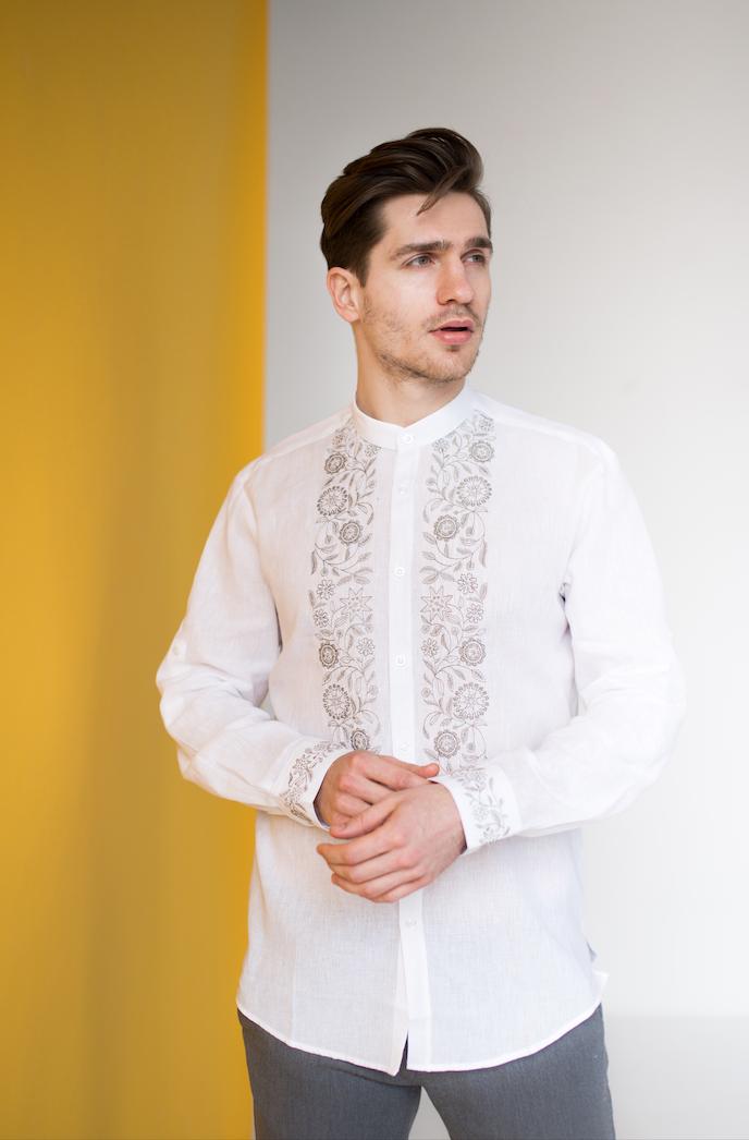 Мужские рубашки с украинской вышивкой Драгомир