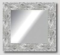 Зеркало настенное в раме Factura White pattern 50.5х50.5 см белое, фото 1