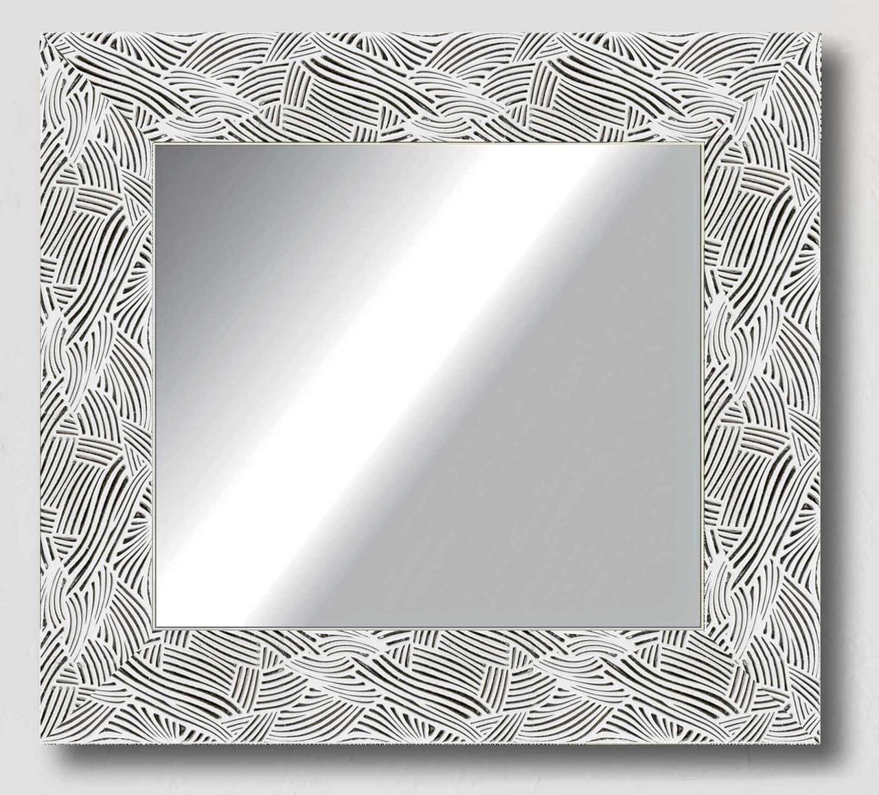 Зеркало настенное в раме Factura White pattern 50.5х50.5 см белое