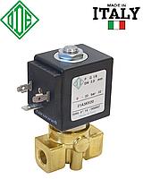 """Электромагн. клапан для воды ODE 1/4"""" нормально закрытый прямого действия."""