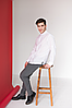 Мужские рубашки с белой вышивкой Драгомир, фото 5