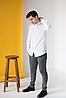 Мужская сорочка с белой вышивкой Борислав, фото 4