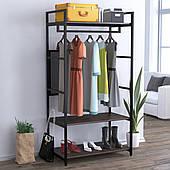 Стеллаж-стойка для одежды LV-100 Loft-Design напольная вешалка с полочками