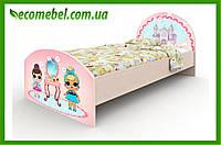 """Подростковая кровать """"Куклы ЛОЛ"""" венге светлый"""