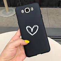 Чехол Style для Samsung J5 2016 / J510 Бампер силиконовый Черный Heart