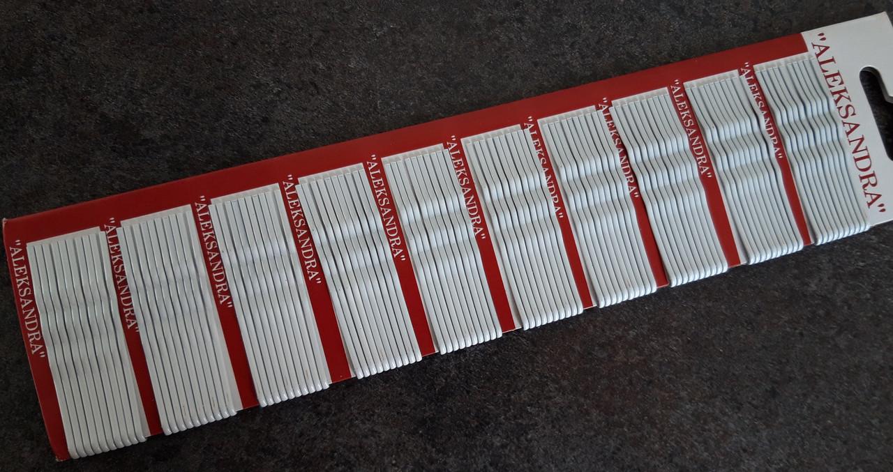 Невидимки Александра 5,5 см белые 100 шт