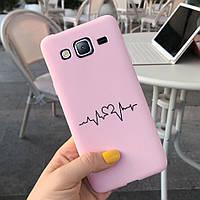 Чехол Style для Samsung J3 2016 / J320 Бампер силиконовый Розовый Cardio