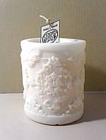 Ароматическая интерьерная свеча с орнаментом  Д=7см Н=8см - 280 гр