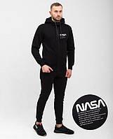Теплый спортивный костюм мужской Nasa черный