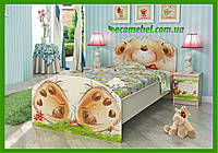 """Подростковая кровать """"Мишка с букетом"""" венге светлый"""