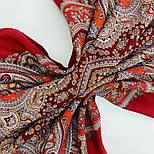 Восточная принцесса 1908-5, павлопосадский платок шерстяной  с оверлоком, фото 5