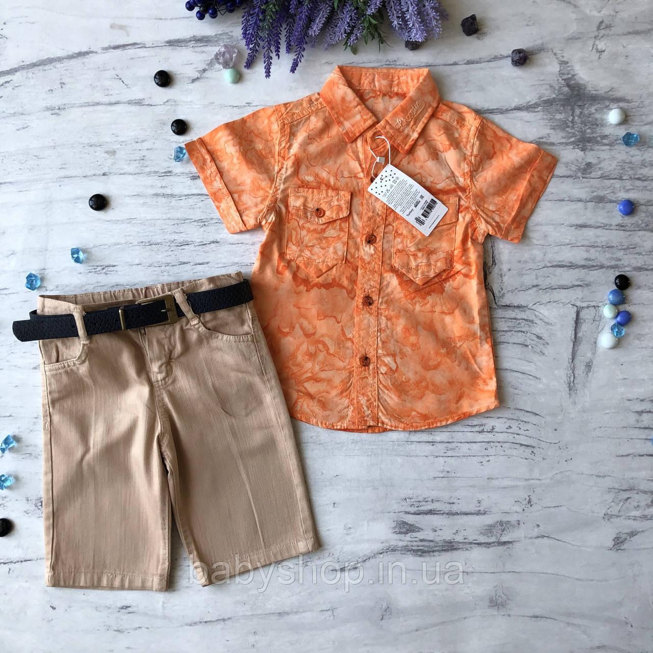 Летний джинсовый костюм на мальчика с рубашкой 40. Размер 2 года, 3 года, 4 года, 5 лет