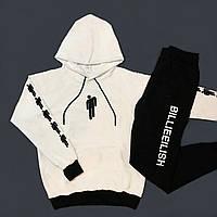 Мужской молодежный спортивный костюм BILLEEILISH с капюшоном.Турция.Лето/осень 2020