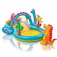 Надувной игровой центр, детский бассейн, Страна динозавров, Intex 57135 Т