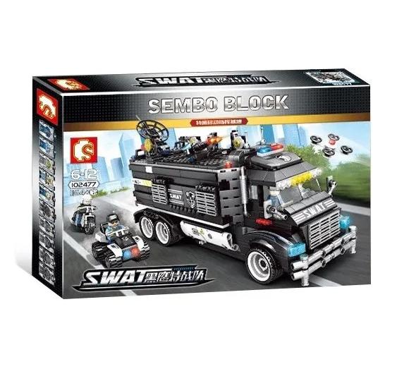 Конструктор Полицейский фургон-база Sembo Block 102477 1164 детали