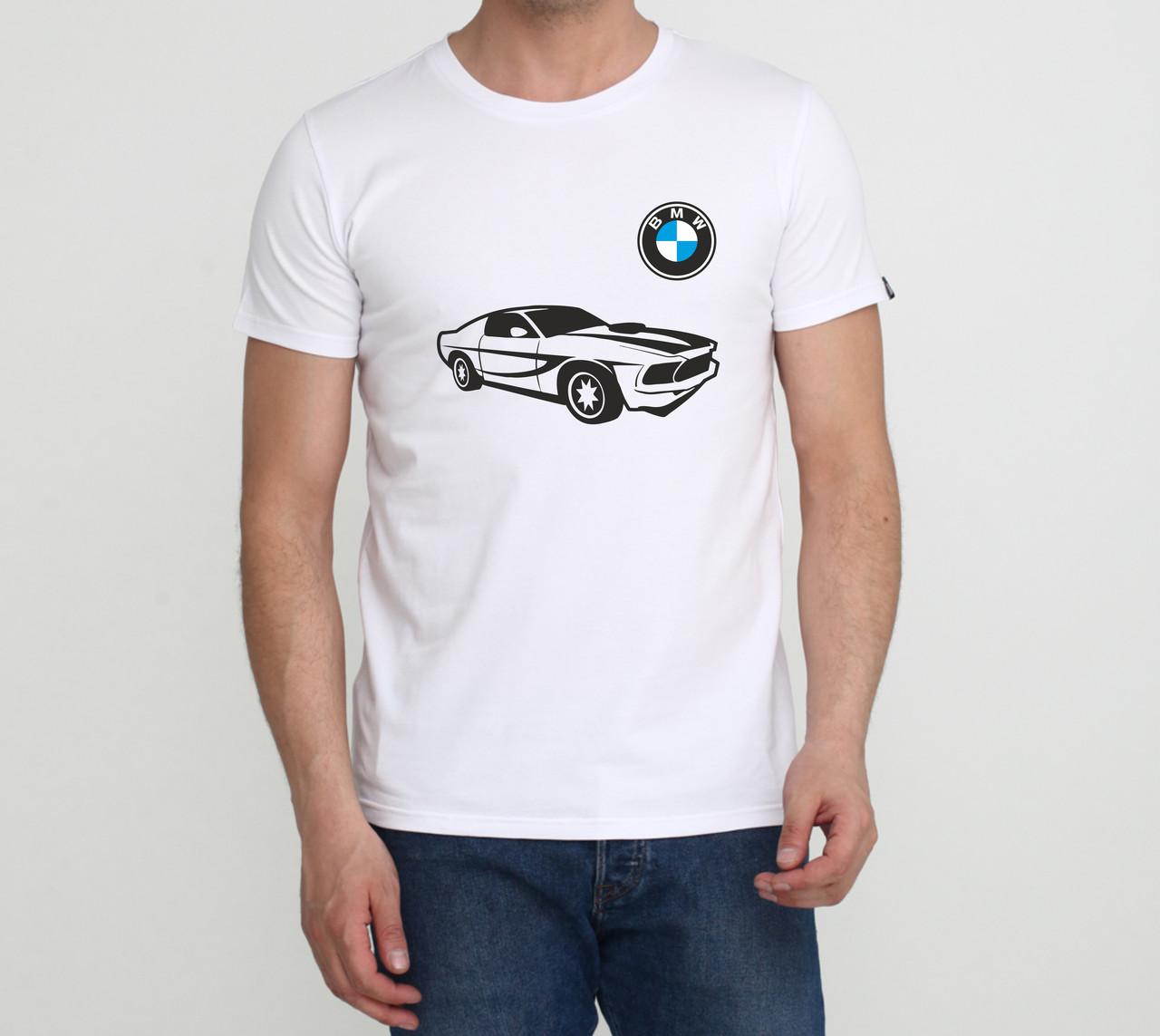 Футболка BMW c біла