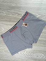 Боксеры Uomo  хлопок спортивная резинка (048) светло серый