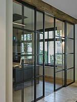 Двери раздижные металлические Лофт