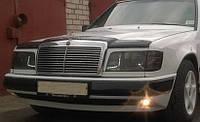 Дефлектор капота (мухобойка) Mercedes-Benz E W124 1985-1992 значок на решетке, Vip Tuning, MRD09