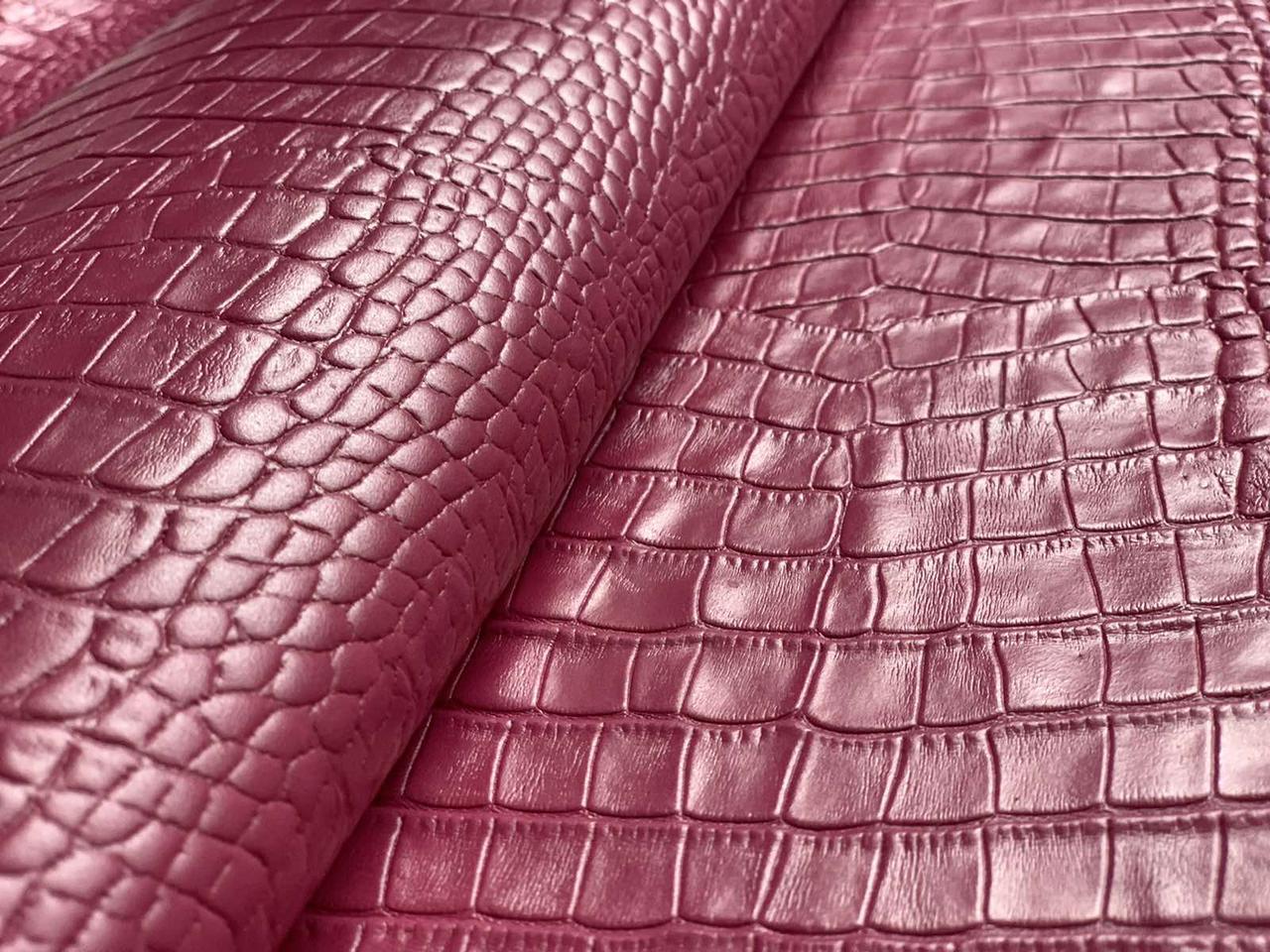 Натуральная кожа Авалон (Крейзи Хорс) малиновый Кайман