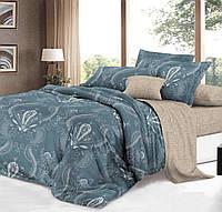 Двуспальный комплект постельного белья евро 200*220 сатин (14363) TM КРИСПОЛ Украина