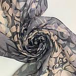 Палантин шерстяной 10396-1, павлопосадский шарф-палантин шерстяной (разреженная шерсть) с осыпкой, фото 8