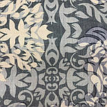 Палантин шерстяной 10396-1, павлопосадский шарф-палантин шерстяной (разреженная шерсть) с осыпкой, фото 2