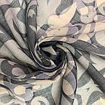 Палантин шерстяной 10396-1, павлопосадский шарф-палантин шерстяной (разреженная шерсть) с осыпкой, фото 6