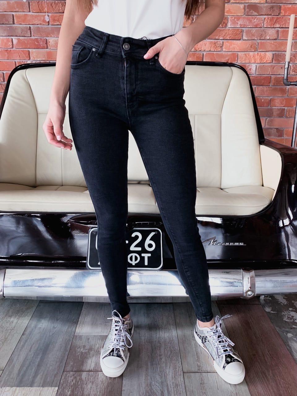 Черные женские джинсы скинни стрейч 68bil461