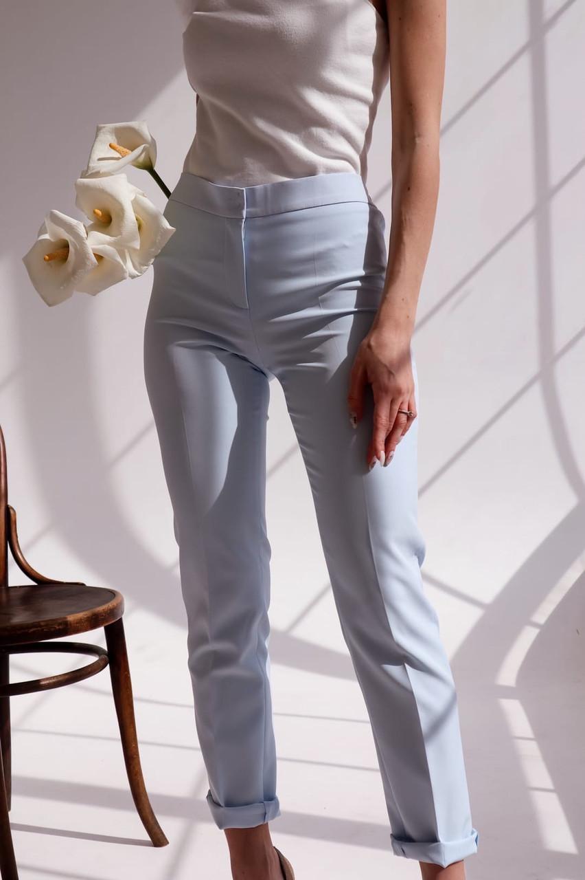 Женские зауженные брюки на завышенной посадке 14bil463