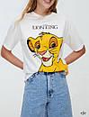 Женская белая футболка с рисунком Симба 78fut604, фото 4