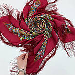 В ожидании праздника 1895-5, павлопосадский платок шерстяной с шелковой бахромой, фото 8