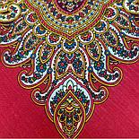 В ожидании праздника 1895-5, павлопосадский платок шерстяной с шелковой бахромой, фото 4