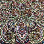 В ожидании праздника 1895-5, павлопосадский платок шерстяной с шелковой бахромой, фото 2