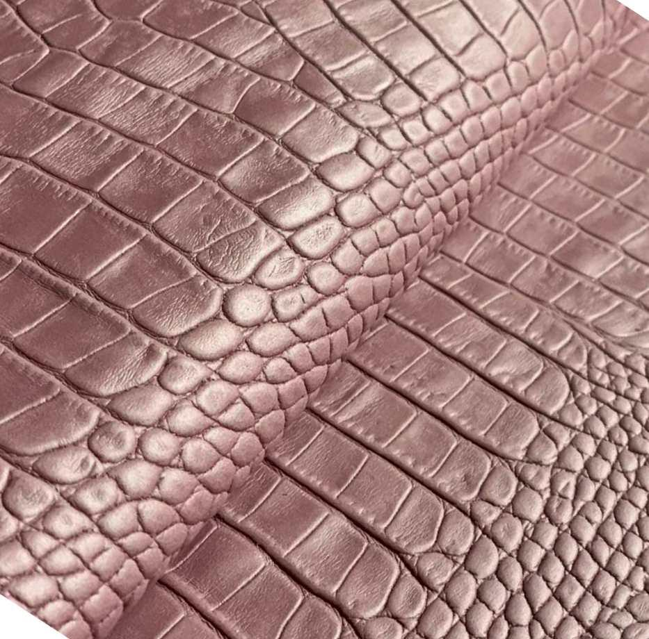 Натуральная кожа Авалон (Крейзи Хорс) розовый  Кайман