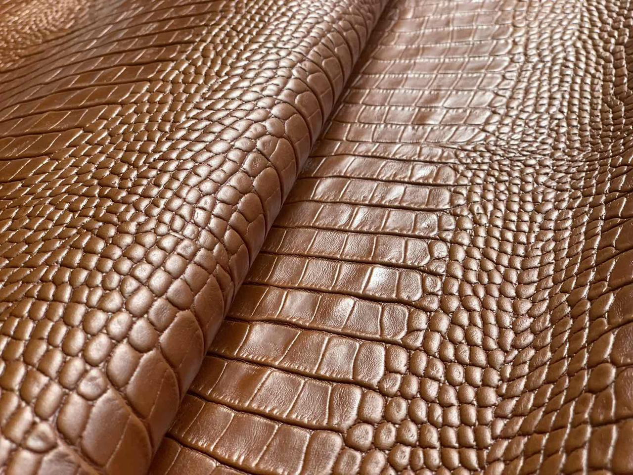 Натуральная кожа Авалон (Крейзи Хорс) коньяк Кайман
