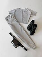Женский летний спортивный костюм светоотражающий с футболкой 66msp892E, фото 1