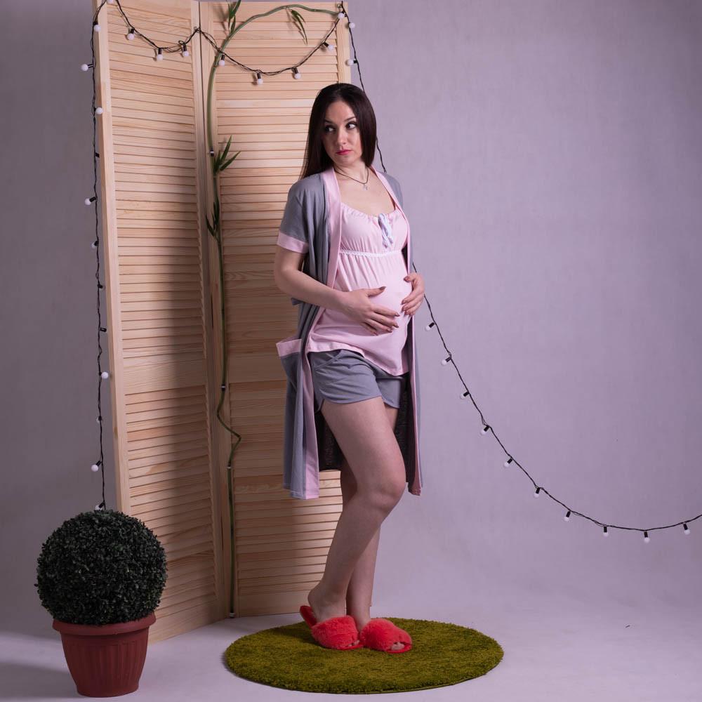 """Комплект пижама с халатом """"Лейсли2"""" р.42-54"""