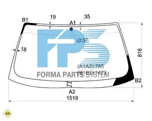 Лобовое стекло BMW 5  E34 1987-1995