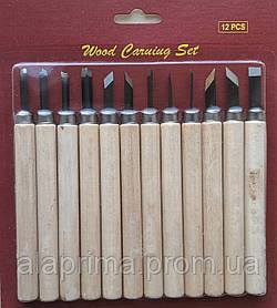 Набор резцов по дереву 12шт. DK11514 D.K. ART