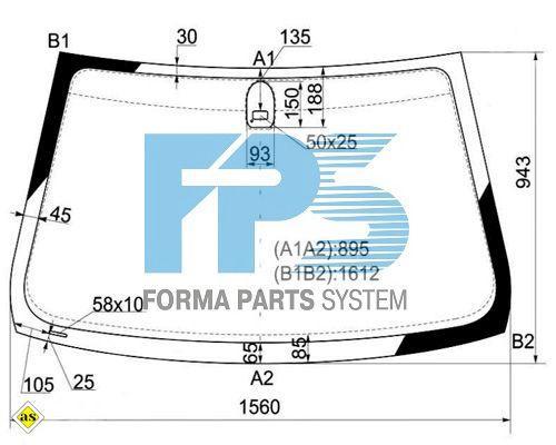 Лобове скло BMW X5 E53 '00-01 (XYG)